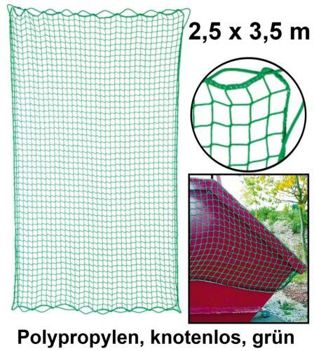 Carga red de copia de seguridad 2,5 x 3,5 m red contenedor carga remolque de malla red pritsch