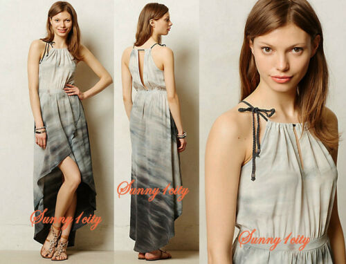 Unique and Chic RARE NEW sz M L Anthropologie Dip-Dyed Tulip Dress By Gyps 05