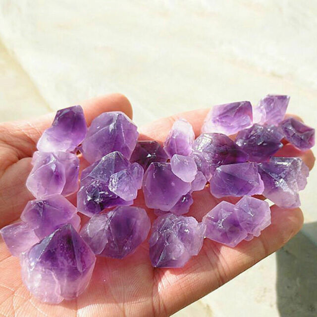 2.2LB  Each Bag Natural Quartz Amethyst Crystal Cluster Raw Stone Specimen Heal