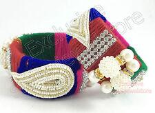 Fancy Threads Bangles Kada Bracelet Cuff Stone Kundan Pearls Ethnic Party - 1 PC