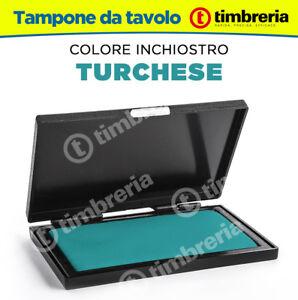 CUSCINETTO TAMPONE TIMBRI DA TAVOLO cm 8x12 INCHIOSTRO TIMBRI COLORE TURCHESE xFRXfg01-09160012-118361462