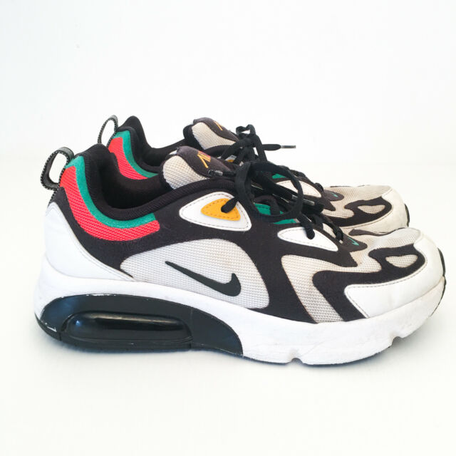 Nike Air Max 200 GS [AT5627-100] Kids Casual Shoes White/Black-Bright Crimson 7Y