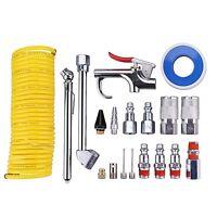 20 Piece Air Compressor System Accessory Kit Recoil Hose+gun Nozzles Set (25 Ft)