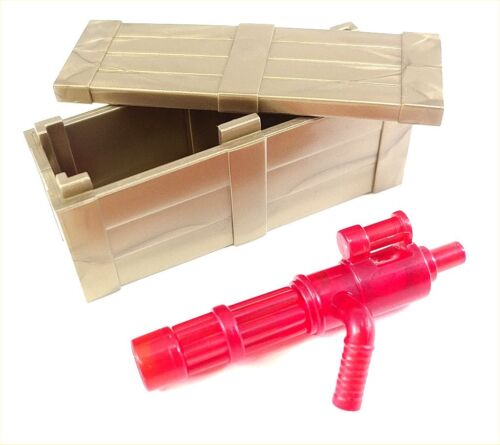 BrickArms MINIGUN /& CRATE Holiday Special Stocking Stuffer for Minifigures
