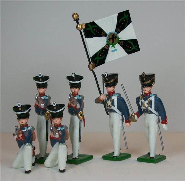 Hampton - G223 - preussiskt infanteri - verkan - 6 pjäser - Napoleon
