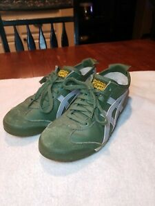 low priced 46721 c4e00 Details about VTG Asics Onitsuka Tiger HL202 Sneakers Shoes Mens 7.5 Green  Gray Leather Suede
