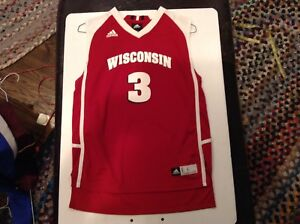 5be0f1293bf Image is loading WISCONSIN-BADGERS-3-ADIDAS-BASKETBALL-JERSEY-SZ-Youth-