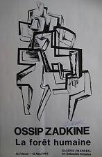 ZADKINE AFFICHE LITHOGRAPHIQUE 1966 SIGNÉE ENCRE LITHOGRAPHIC HANDSIGNED POSTER