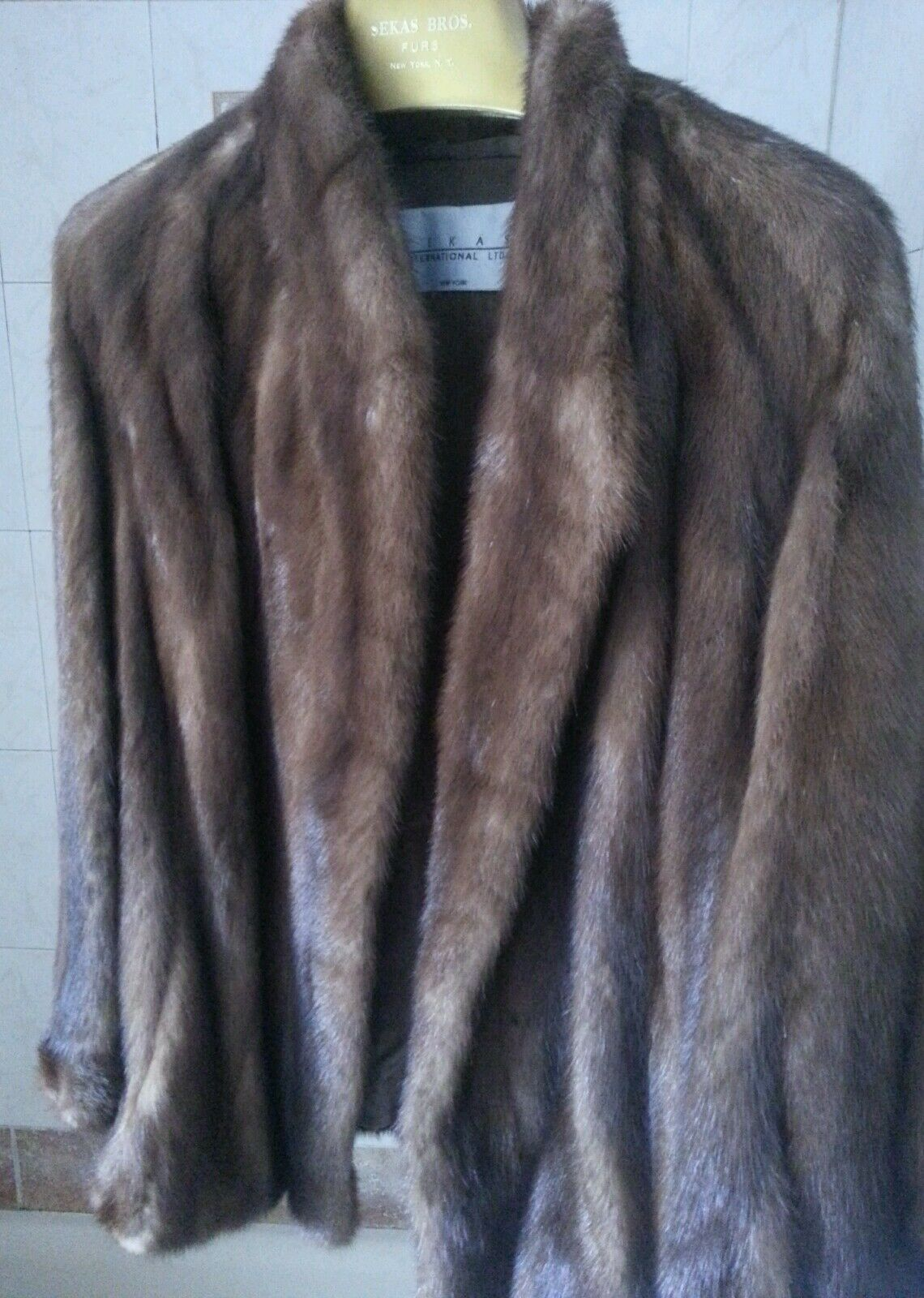 Sekas International Ltd. Limited Real Fur Coat