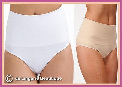 L 10-20 Ladies Tummy Support Control Brief  Skin-Nude Black White Size M XL