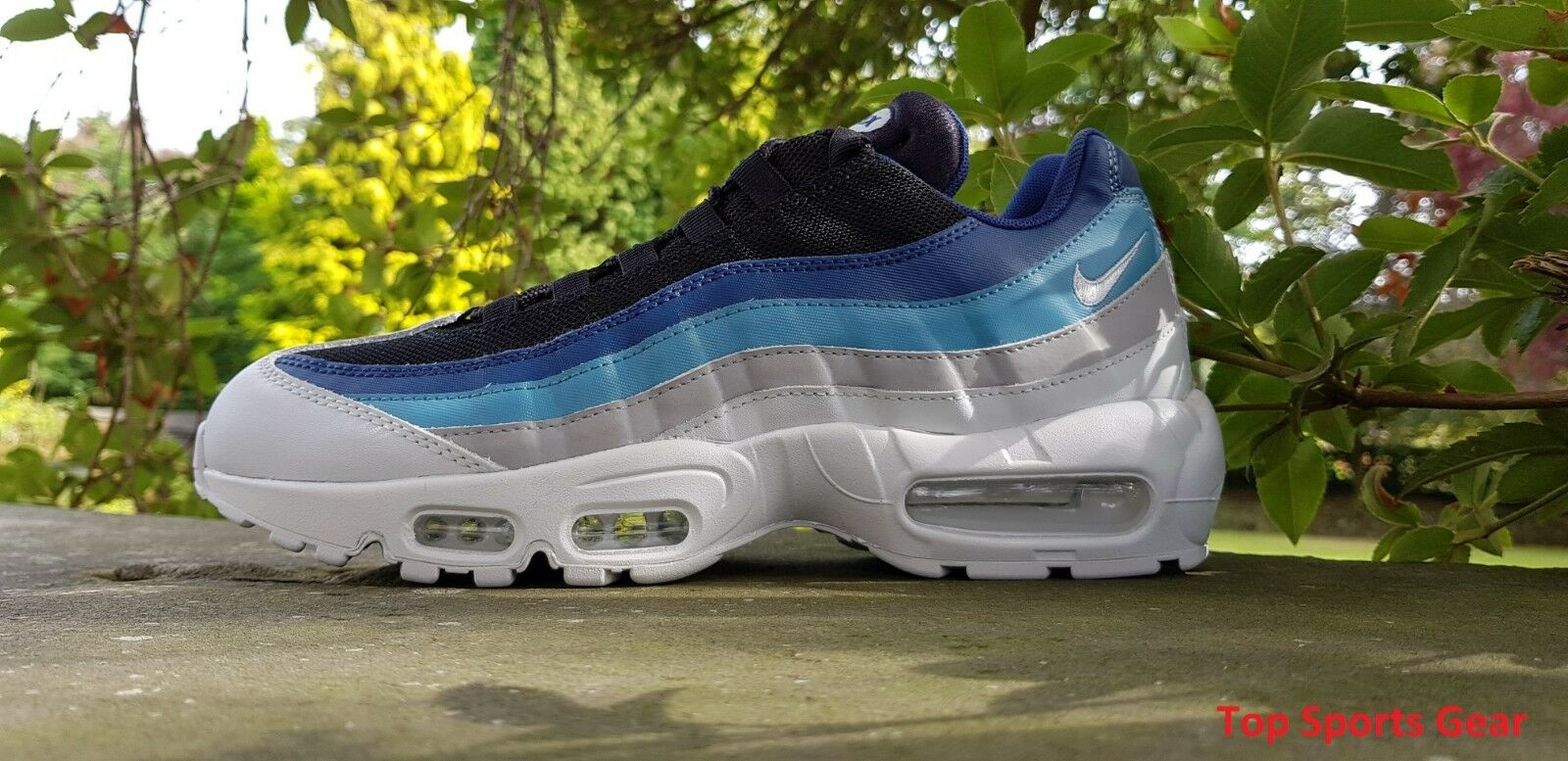 c8523bbd954a ... Nike Air Max Max Max 95 Essential Mens Trainers Blue Grey Yellow UK  Sizes 5 ...