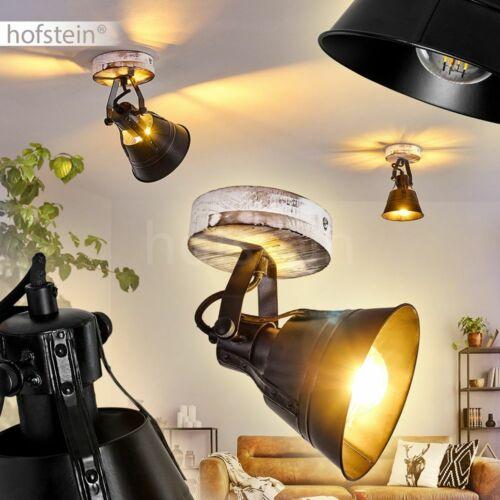 Flur Strahler Retro Wohn Schlaf Zimmer Beleuchtung Decken Lampen schwarz//Holz