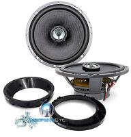 Pkg Focal 165ca1sg 6.5 2way Speakers + Harley Davidson Motorcycle Adaptor Rings on sale