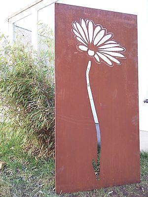 Edelrost Garten Sichtschutz Rost Sichtschutzwand Gartenzubehör Metall H150*75cm