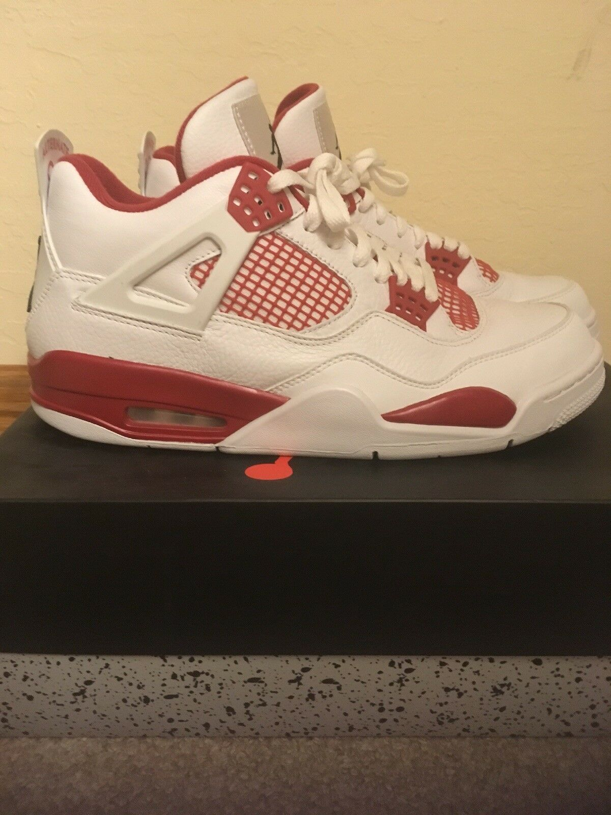 "Air Jordan 4 Retro  Alternate 89"" (White, Gym Red, Black) Men Size 11"