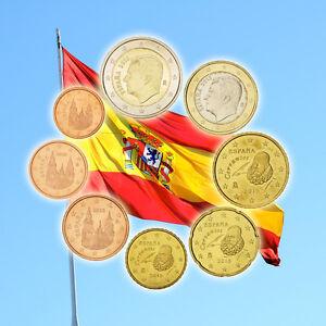 [#92464] Espagne, Série de 8 pièces, 1 Centime à 2 Euro, 2015