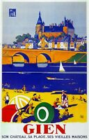 2769.gien Son Chateau Vieilles Maisons French Travel Poster.wall Decoration Art.