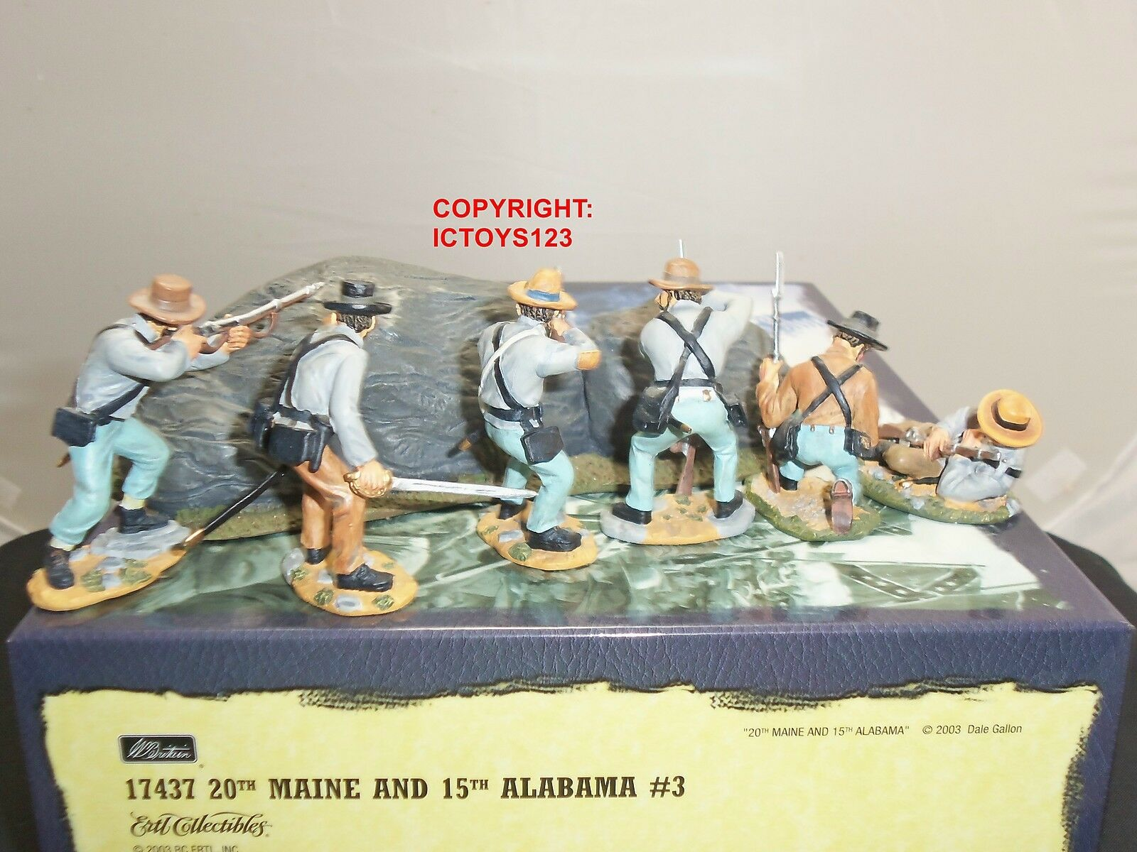 BRITAINS 17437 AMERICAN 20TH MAINE + 15TH ALABAMA METAL TOY SOLDIER FIGURE SET 3