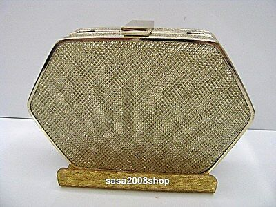 Gold ~Shinny satin ~New Prom Evening Party Purse Clutch Bag ☆Free Shipping ☆
