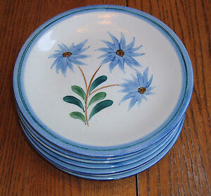 Image is loading Stangl-Pottery-Blue-Mountain-Daisy-3346-9-inch- & Stangl Pottery Blue Mountain Daisy #3346 ~ 9 inch Dinner Plate ...