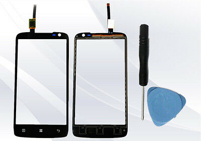 Black Touch Screen Digitizer Glass Lens Replacement For Lenovo S820