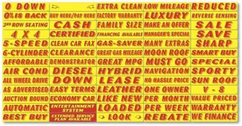 Versa-tag Vinyl Highlights Windshield Slogans