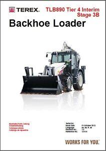 Details about Terex Backhoe Loader TLB890 ( TLB 890 ) Parts Manual on a CD  - Multilingual