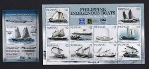 2021 Philippines INDIGENOUS Boats, National Heritage month sht/10 + S/S mint NH
