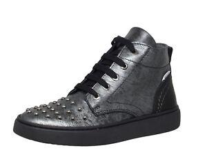 f0df5ef522fa80 Cole Bounce Restore 2426A coole Leder Sneaker Schuhe schwarz Silber ...