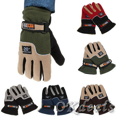 Men Thermal Winter Warm Gloves Windproof Motorcycle Ski Snow Snowboard Mittens