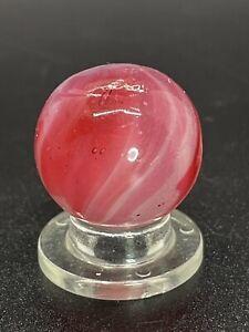 "🔥EXTREMELY RARE Vintage German Handmade Translucent Swirl Marble 0.748"" NM-M🔥"