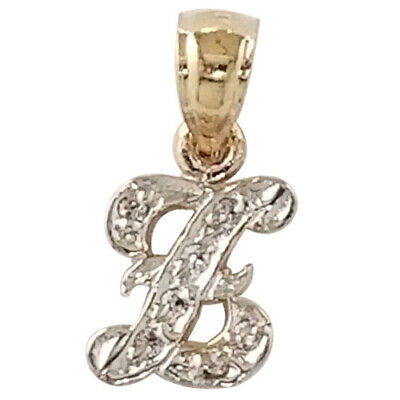 14K Gold Initial Letter G Pendant Charm Initial Pendant Necklace INT-G