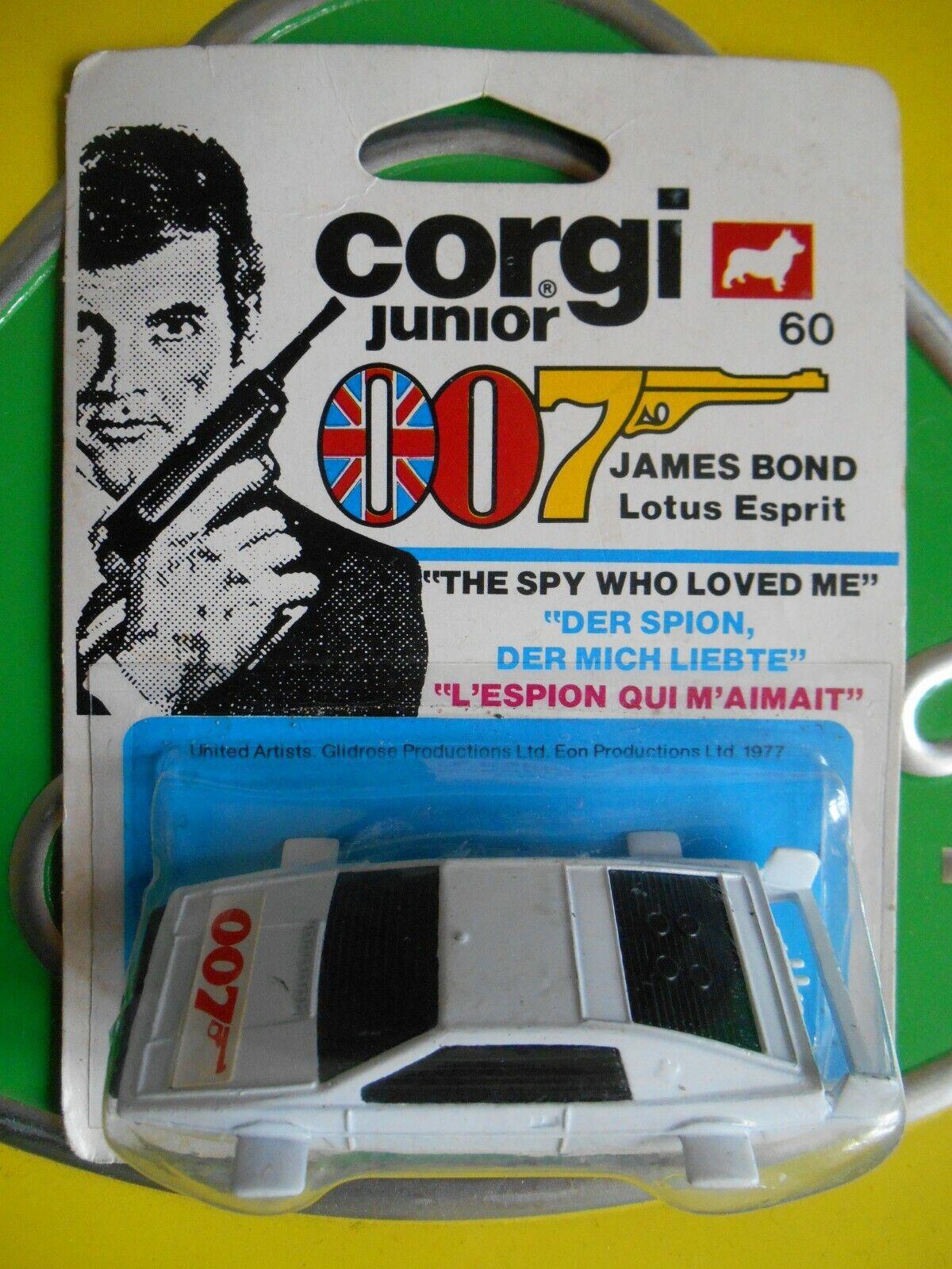 Corgi Junior 60 Lotus Esprit James Bond 007 Exceptional Card Blister Chapman