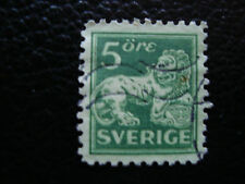 SUEDE - timbre yvert et tellier n° 126b obl (A27) stamp sweden (E)