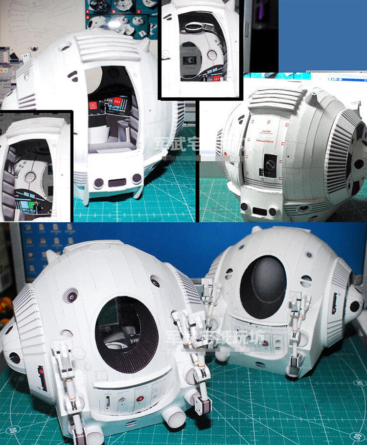 Film 2001 A Space Odissey One Man Space Capsule Pod Paper Model Kit