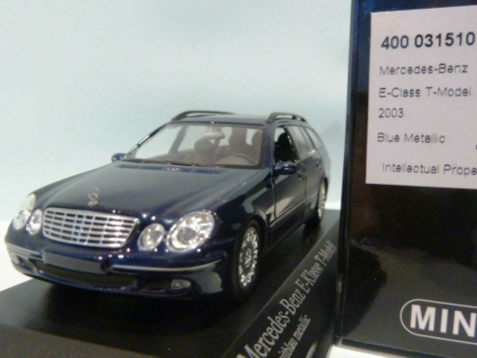Wow extrêmement rare MERCEDES W211 E280T 2003 Break Bleu 1 43 Minichamps - 300,AMG, S