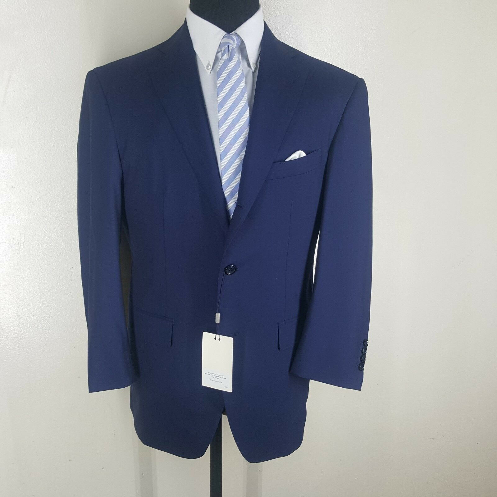 SUIT SUPPLY New Blau Blazer 3 Btn. 3 rd Button Roll Side VENTS 46R-FIT 43-44 REG