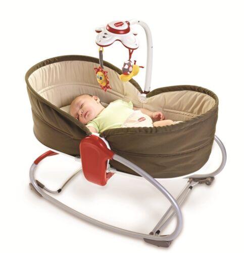 Tiny Love 3 In 1 Baby Rocker Napper Vibrating Swings Bouncer Feeding Chair Brown