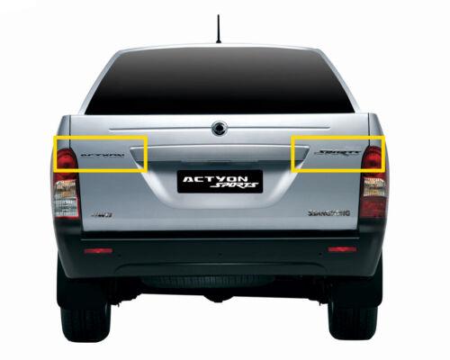 SSANGYONG ACTYON SPORTS 2007-2012 OEM Rear ACTYON /& SPORTS Logo Emblem 2pcs set