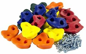 Kids-Rock-Wall-Climbing-Hand-Holds-with-Hardware-Screw-New