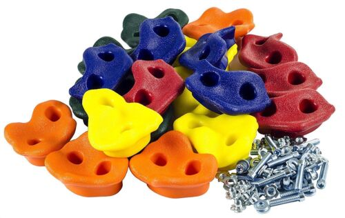 2017 Kids Rock Wall Hand Climbing Holds with Hardware Screw New