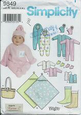 S 9849 sewing pattern Baby BUNTING BOOTIES ROMPER JACKET HAT BLANKET sew Darling