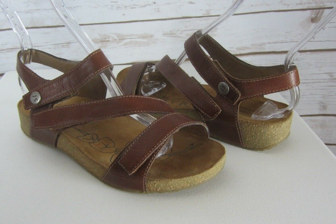 JOSEF SEIBEL mujer 6.5 37 M marrón Leather Ankle Strap Comfort Sandals EU 37 6.5 a6681b