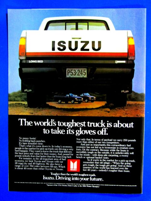 1983 ISUZU IMPULSE Genuine Vintage Ad ~ S.O.H.C I-TEC~ FREE SHIPPING!