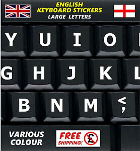 LARGE-English-Keyboard-Stickers-UK-White-Letters-Visually-Impaired-Children