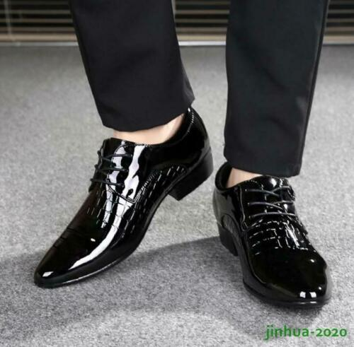 Details about  /Mens Oxfords patent Wedding Business Dress Lace Up OL Formal Shoes Party Casual