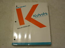 Kubota Tractor Dealer 760 Page Parts Price List Manual