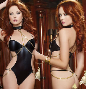 Sissy-Sexy-Women-Lingerie-Bodystocking-Nightwear-Underwear-Dress-Lace-Babydoll