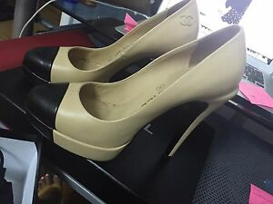 Chanel-Black-and-Nude-Pumps-size-6