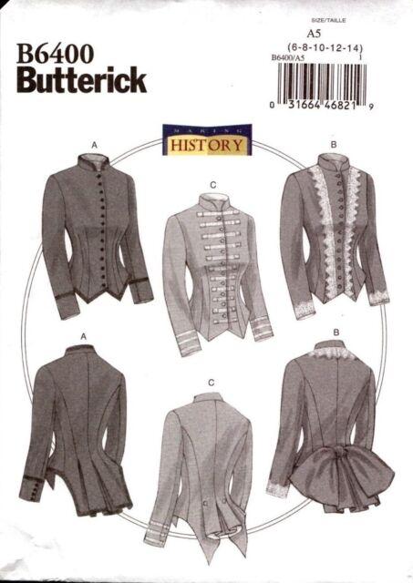 Butterick Sewing Pattern B6400 Making History - Victorian Boned ...